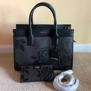Kate Spade large perforated Candace with wallet
